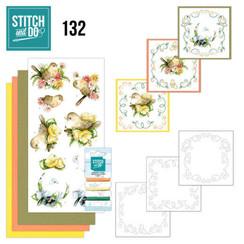 STDO132 - Stitch and Do 132 - Precious Marieke - Delicate Flowers - Birds