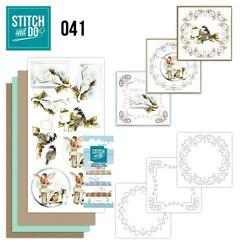 STDO041 - Stitch and Do 41 - Kerstvogeltjes