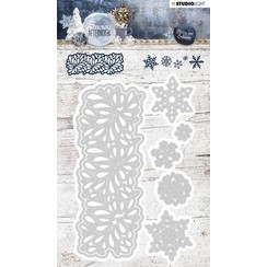 STENCILSA219 - Cutting and Embossing Die Cut 88x139 mm, Snowy Afternoon nr.219