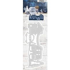 STENCILSA221 - Cutting and Embossing Die Cut 54x132 mm, Snowy Afternoon nr.221