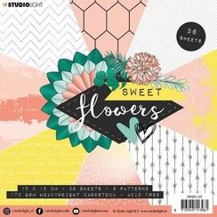 PPSFL137 - Paper Pad 15 x 15 cm, Sweet Flowers nr.137