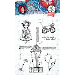 STAMPBM55 - Clear Stamp A6, Art By Marlene Go Dutch Collection nr.55