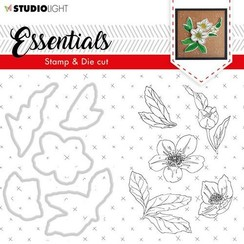 BASICSDC48 - SL Clear Stamp & Die Cut Christmas Rose Essentials, nr.48