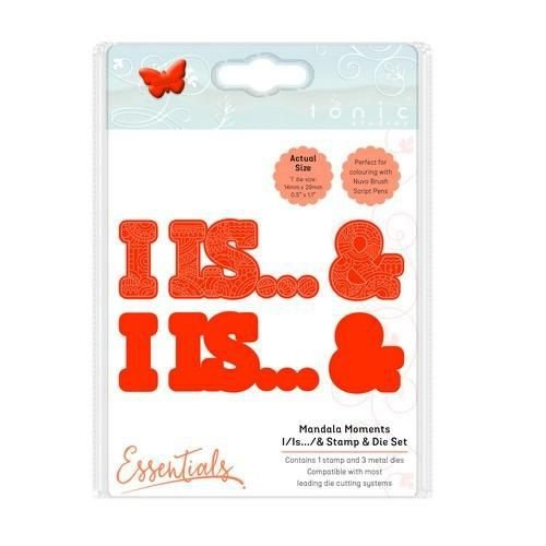 Tonic Studios 1547E - Tonic Studios mandala moments - I / is / & stamp & die set