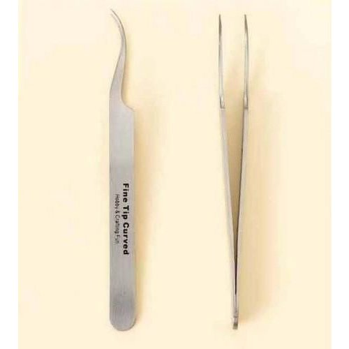 12080-8023 - Pincet stainless steel fijne punt gebogen 12 cm