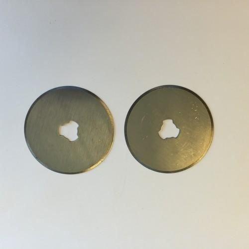 12411-1131 - Reserve mesjes voor rolmes  45mm - 2 st. recht -1131
