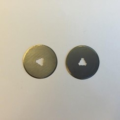 12411-1132 - Reserve mesjes voor rolmes 28mm - 2 st. recht -1132
