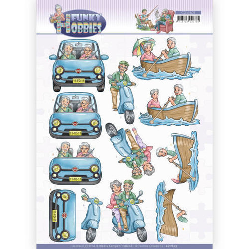 Yvonne Creations CD11605 - 10 stuks Knipvel - Yvonne Creations - Funky Hobbies - A day out