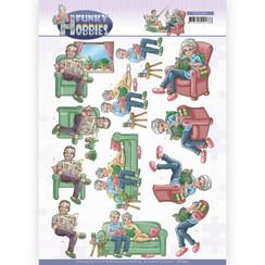 CD11607 - 10 stuks Knipvel - Yvonne Creations - Funky Hobbies - Reading