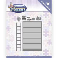 YCD10228 - Mal - Yvonne Creations - Funky Hobbies - Bookcase
