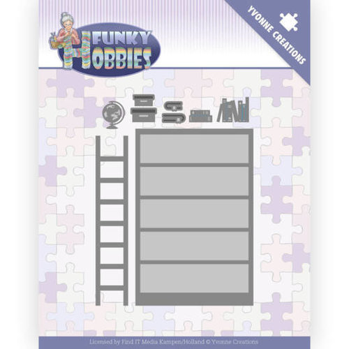Yvonne Creations YCD10228 - Mal - Yvonne Creations - Funky Hobbies - Bookcase