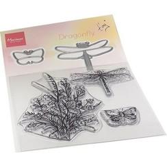 TC0880 - Tiny's Libellen stempel & mal set
