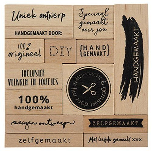 Marianne Design CS1074 - Houtstempel set – Zelfgemaakt