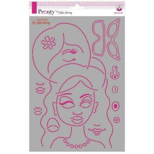 Pronty 470.765.998 - Pronty Stencil Journal Faces 470.765.998 Julia Woning