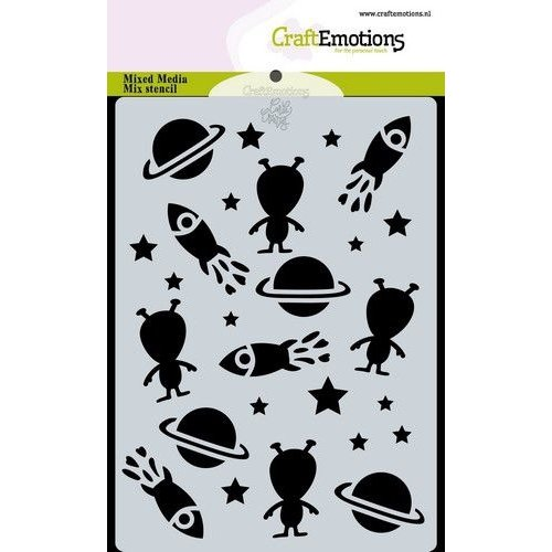 CraftEmotions 470.766.053 - CraftEmotions Mask stencil Space - In Space Carla Creaties