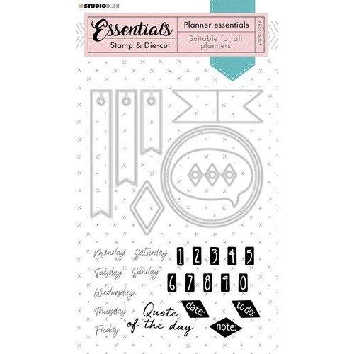 Studio Light BASICSDC51 - Studio Light Stamp & Die-cut Rectangle Planner Essentials nr.51 BASICSDC51 160x280mm