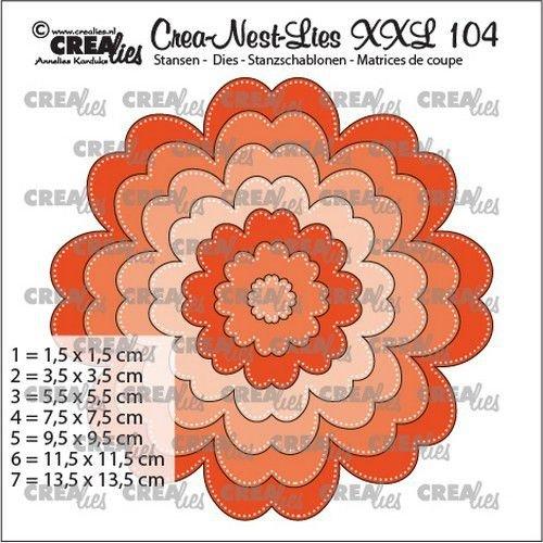 Crealies CLNestXXL104 - Crealies Crea-nest-dies XXL Bloem CLNestXXL104 13,5 x 13,5 cm