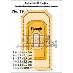 CLLT19 - Crealies Labelzz & Tagzz no. 19 CLLT19 5,2x10cm
