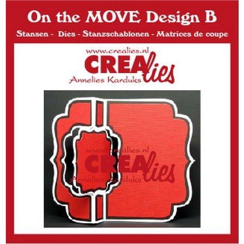 Crealies CLMOVE02 - Crealies On The Move Design B Swing along CLMOVE02 13,5x17,5cm
