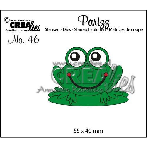 Crealies CLPartzz46 - Crealies Partzz Kikker CLPartzz46 55x40mm