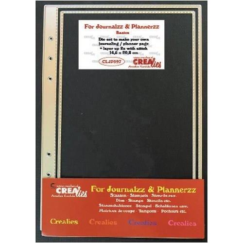 Crealies  - Crealies Journalzz & Pl Stans plannerpagina (stiksteek lijn) CLJP997 14,5x20,8cm