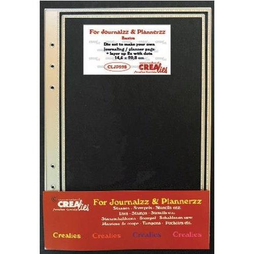 Crealies  - Crealies Journalzz & Pl Stans plannerpagina (stippenlijn) CLJP998 14,5x20,8cm