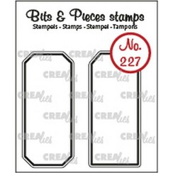- Crealies Clearstamp Bits & Pieces Labels CLBP227 20x45mm
