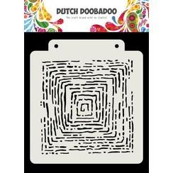 470.715.175 - Dutch Doobadoo Dutch Mask Art Grunge lines 163x 148 mm 470.715.175