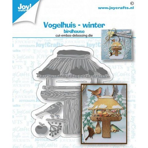 Joy!Crafts 6002/1543 - Joy! Crafts Stans-debos-embosmal - Vogelhuis winter 6002/1543 70x63mm