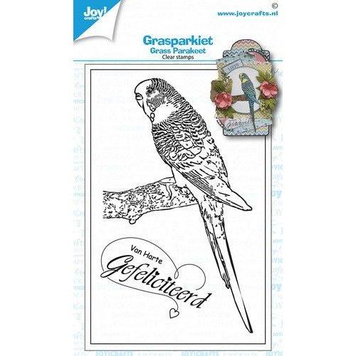 Joy!Crafts 6410/0536 - Joy! Crafts Clear stempel - Geertje - Grasparkiet 6410/0536 122x71,5mm