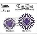 Crealies CLDD61 - Crealies Duo Dies no. 61 open Bloemen 26 CLDD61 41x40mm