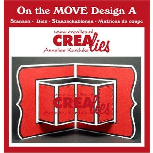 Crealies CLMOVE01 - Crealies On The Move Design A CLMOVE01 13,5x27cm