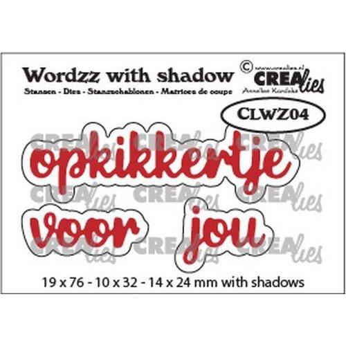 Crealies CLWZ04 - Crealies Wordzz with Shadow opkikkertje voor jou (NL) CLWZ04 19x76mm