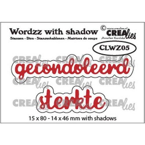 Crealies CLWZ05 - Crealies Wordzz with Shadow Gecondoleerd sterkte (NL) CLWZ05 15x80mm