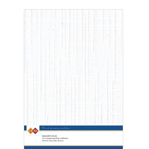 Card Deco Linnenkarton - A4 - Wit