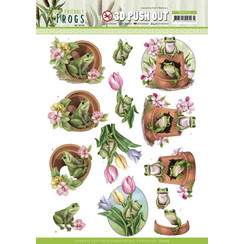 SB10526 - Uitdrukvel - Amy Design - Friendly Frogs - Flower Frogs
