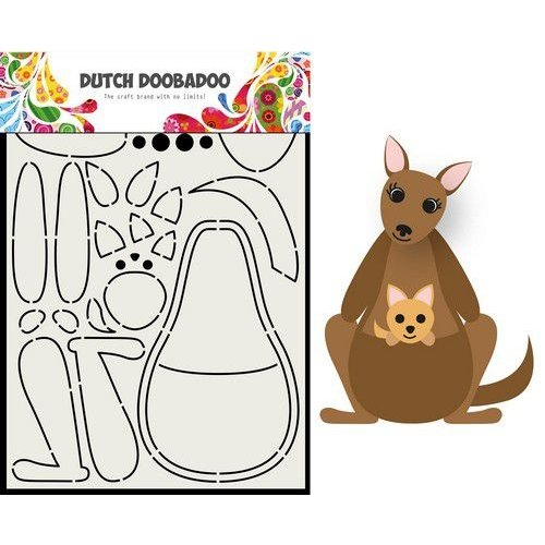 Dutch Doobadoo 470.713.841 - Dutch Doobadoo Card Art Built up Kangaroo A5