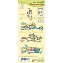 55.7286 - Clear stamp combi Naaien, breien & haken