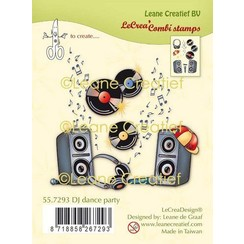 55.7293 - Clear stamp combi DJ dance party