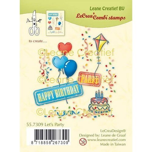 Leane Creatief 55.7309 - Clear stamp combi Feest