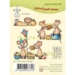 55.7316 - Clear stamp combi Muizen party