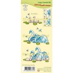 55.7323 - Clear stamp combi Zwanen familie