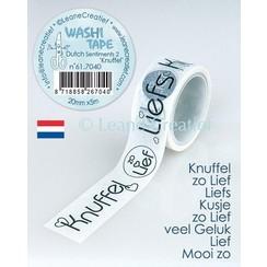 61.7040 - Washi tape Knuffels, 20mmx5m. (NL)