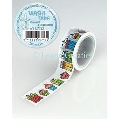 61.7132 - Washi tape Cadeautjes & Cupcakes, 20mmx5m.