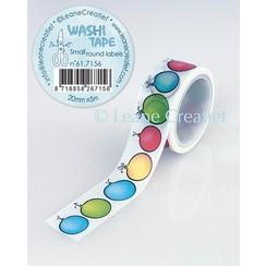61.7156 - Washi tape Ronde labeltjes, 20mmx5m