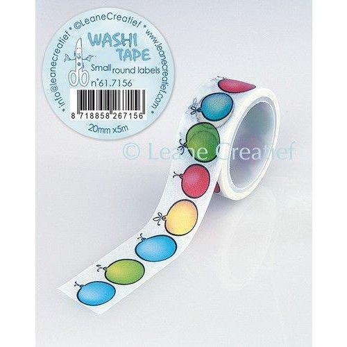 Leane Creatief 61.7156 - Washi tape Ronde labeltjes, 20mmx5m