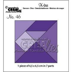 CLXtra46 - Crealies Xtra Tangram 6,5x6,5cm