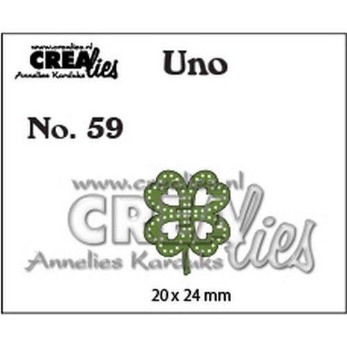 Crealies CLUno59 - Crealies Uno nr. 59 Klavertje vier 20x24mm