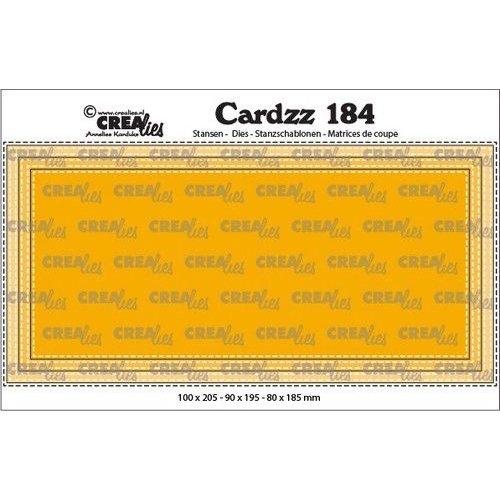 Crealies CLCZ184 - Crealies Cardzz Slimline D Stiksteeklijn  10,0x20,5cm