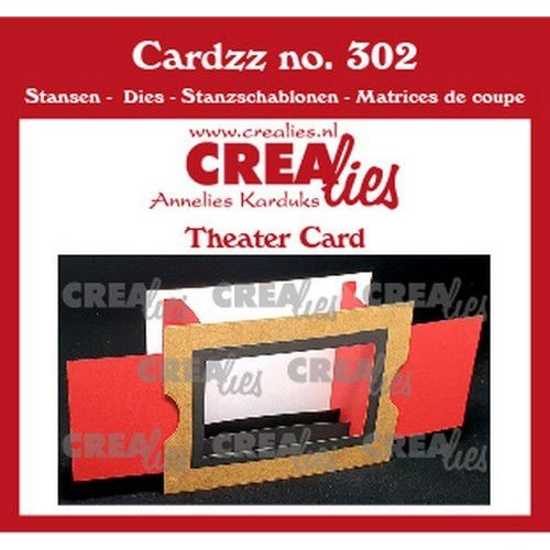 Crealies CLCZ302 - Crealies Cardzz Theater kaart  10,5x14,5cm